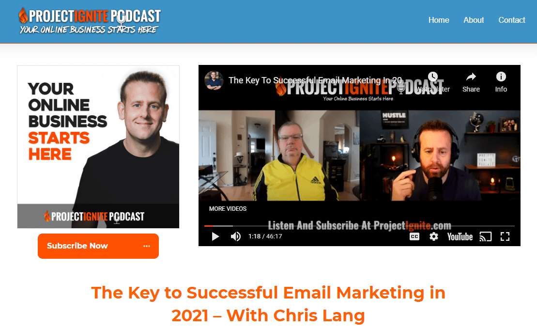 The Key To Successful Email Marketing In 2021 On Project Ignite Podcast